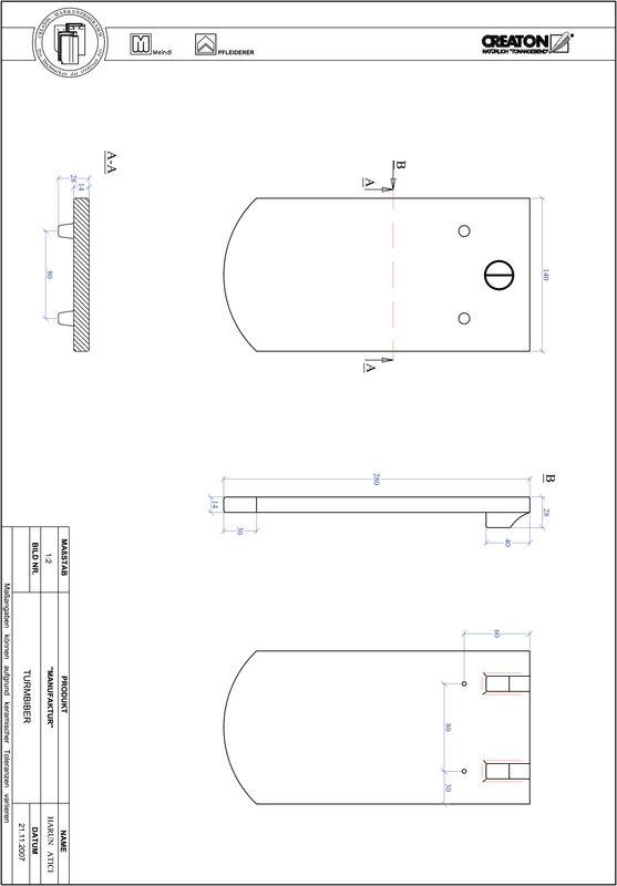 Fiser CAD produs MANUFAKTUR decupaj segmentat TURMBIBER