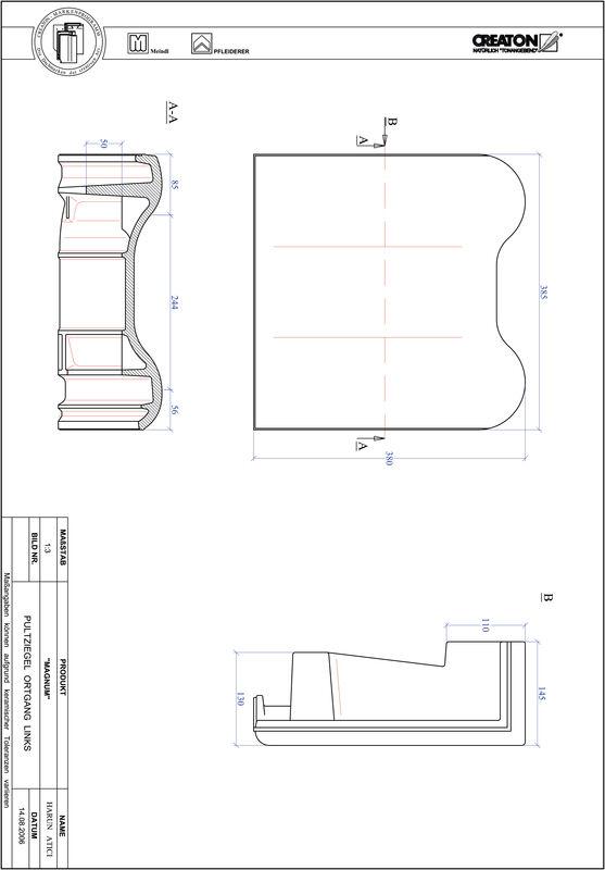 Fiser CAD produs MAGNUM Ţiglă laterală stânga cu versant standard PULTOGL