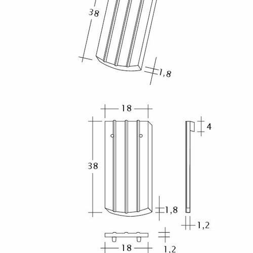 Desen tehnic produs PROFIL Kera-Saechs-18cm-1-1