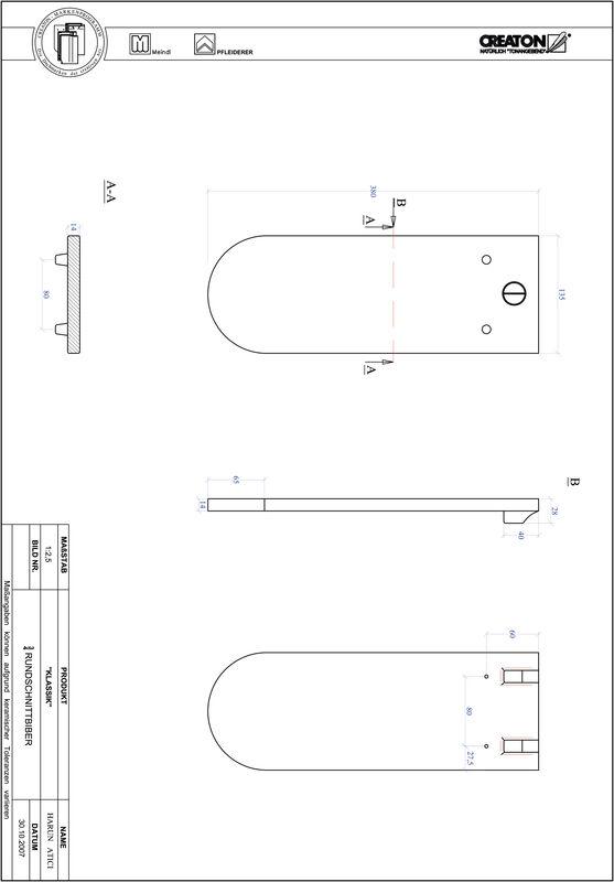 Fiser CAD produs KLASSIK decupaj rotund RUND-3-4