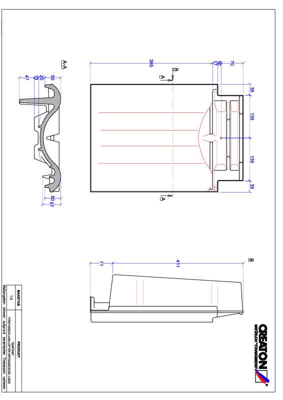 Fiser CAD produs SINFONIE Ţiglă laterală de aerisire pentru conexiune la coamă  stânga FALOGL