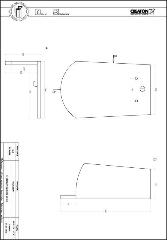 Fiser CAD produs KLASSIK decupaj rotund RUND-OGL-1-1-4
