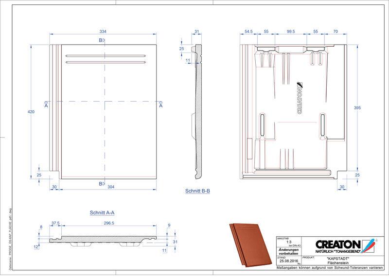 Fiser CAD produs KAPSTADT Ţiglă de bază Faechenstein