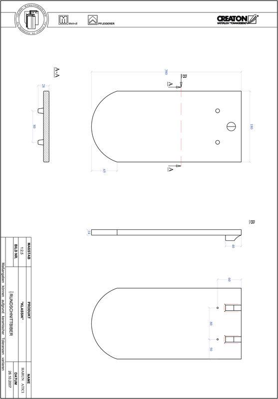 Fiser CAD produs KLASSIK decupaj rotund RUND-1-1