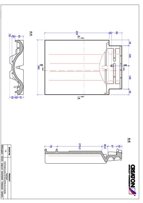 Fiser CAD produs SINFONIE Ţiglă cu proeminenţă  pentru aerisire coamă FALDWZ
