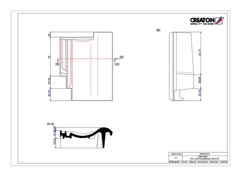Fiser CAD produs SINFONIE Ţiglă laterală dreapta cu versant standard PULTOGR