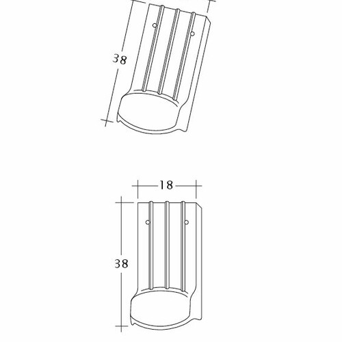 Desen tehnic produs PROFIL Kera-Saechs-18cm-LUEFTZ