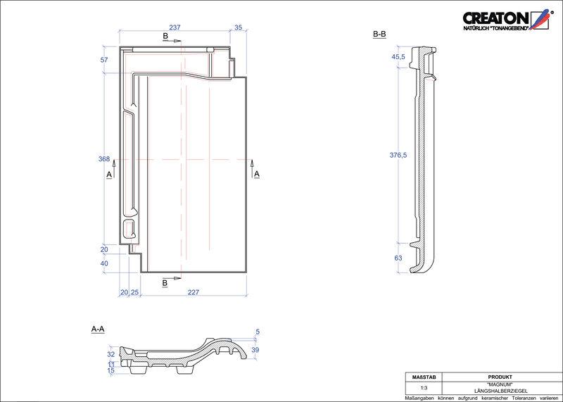 Fiser CAD produs MAGNUM Ţiglă 1/2  LH