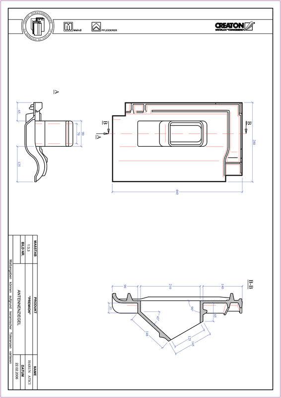 Fiser CAD produs PREMION Antenă ANTENNE