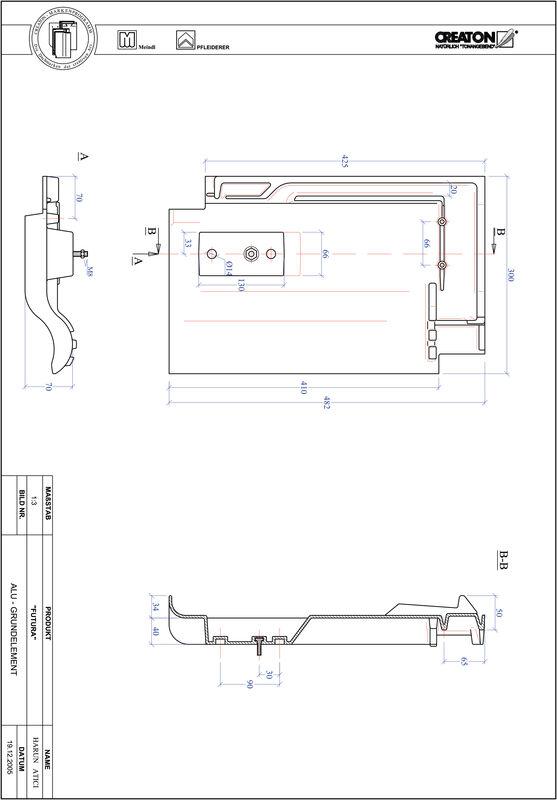 Fiser CAD produs FUTURA Element aluminiu  GRUNDALU