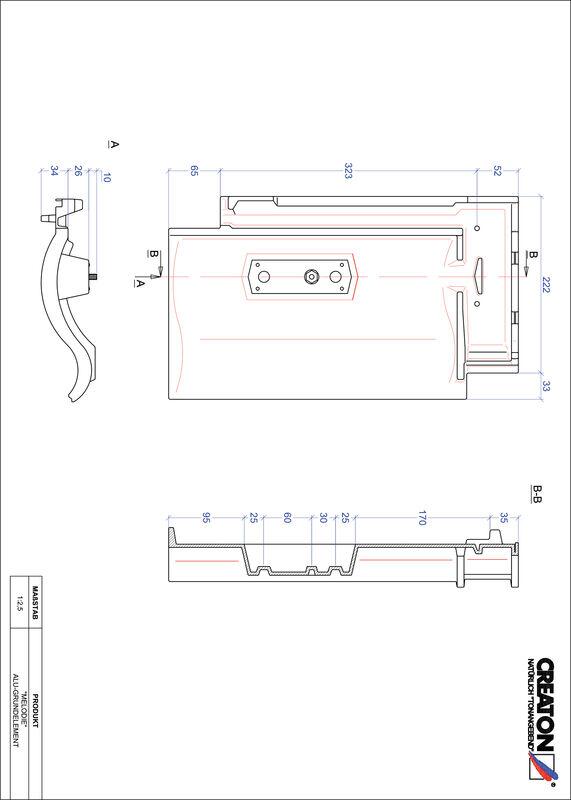 Fiser CAD produs MELODIE Element aluminiu  GRUNDALU