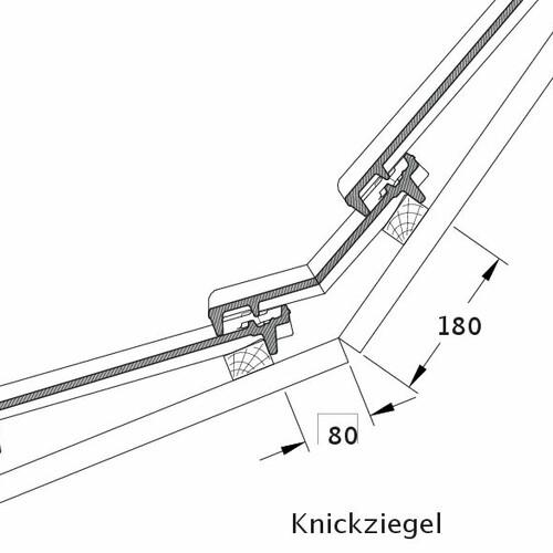 Desen tehnic produs CANTUS Ţiglă pt. rupere de pantă KNZ