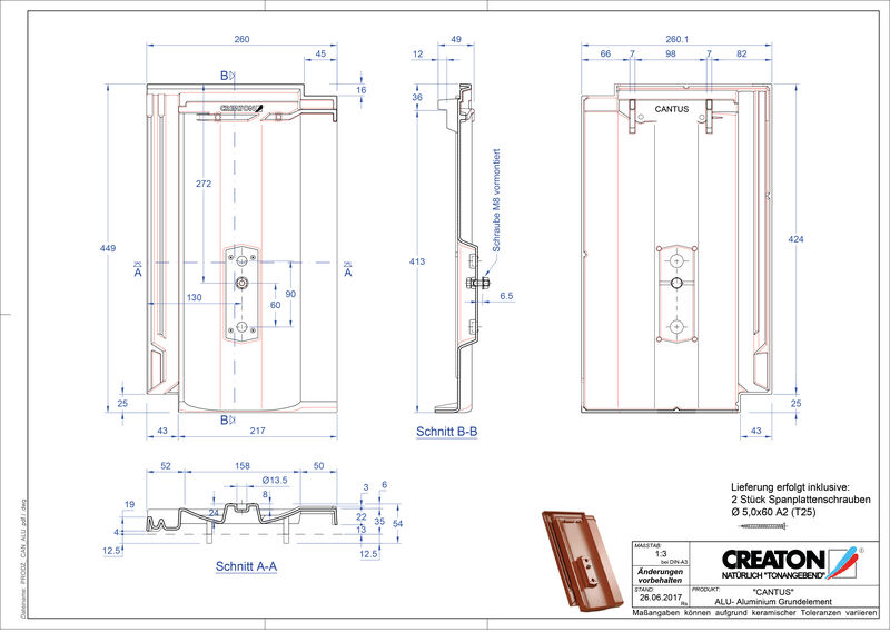 Fisier CAD produs CANTUS Element aluminiu  GRUNDALU