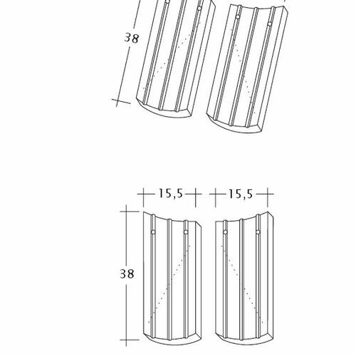 Desen tehnic produs PROFIL Kera-Saechs-15cm-AnAbfuehrer
