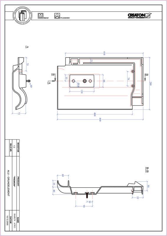 Fiser CAD produs PREMION Element aluminiu  GRUNDALU