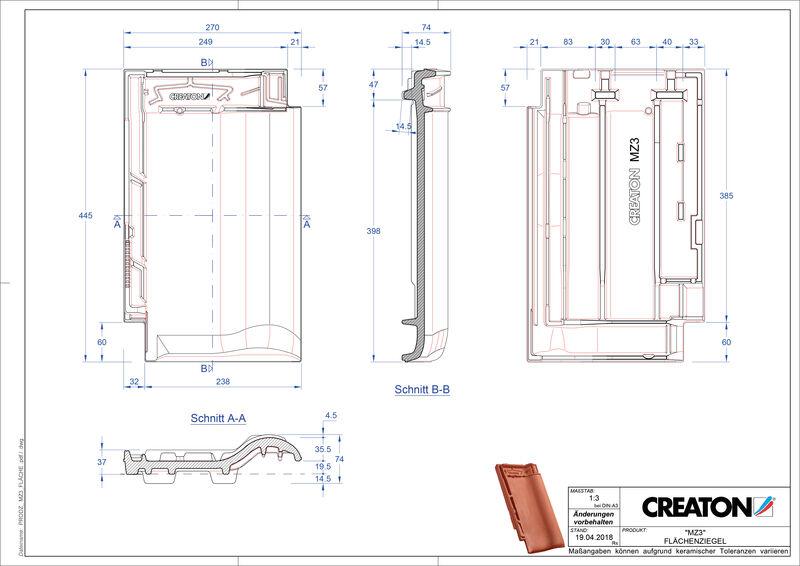 Fiser CAD produs MZ3 Ţiglă de bază FLA