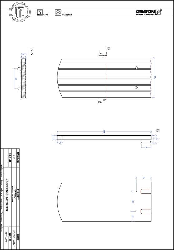 Fiser CAD produs PROFIL Taietura segment  BKBI-1-1