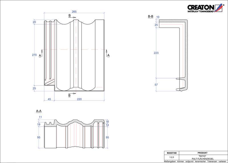 Fiser CAD produs RATIOŢiglă cu versant standard  PULTFLA