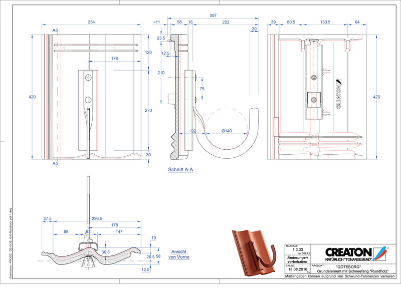 Fiser CAD produs GÖTEBORG Element Rundholz