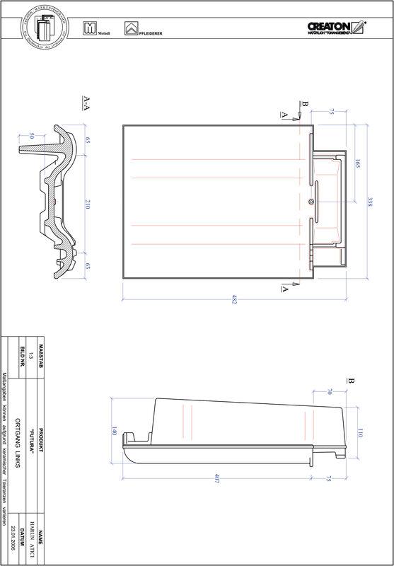 Fiser CAD produs FUTURA laterală stânga OGL