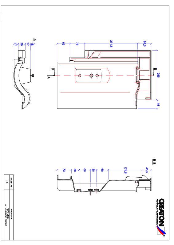 Fiser CAD produs SINFONIE Element aluminiu  GRUNDALU