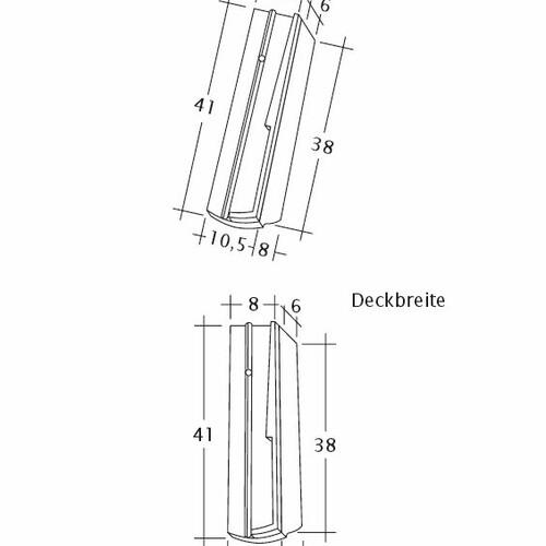 Desen tehnic produs PROFIL Kera-Saechs-18cm-SchiebeOG