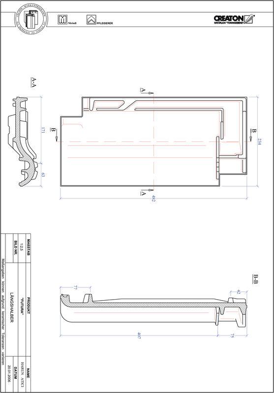 Fiser CAD produs FUTURA Ţiglă 1/2  LH