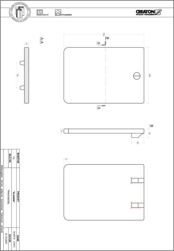 Fiser CAD produs KLASSIK decupaj rotund RUND-TRAUFZIEGEL