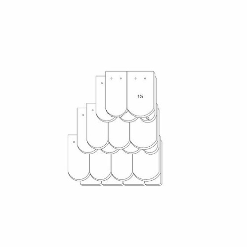 Desen tehnic produs KLASSIK OGAusbildung-Kronendeckung-3-4-1-1-4-Traufziegel