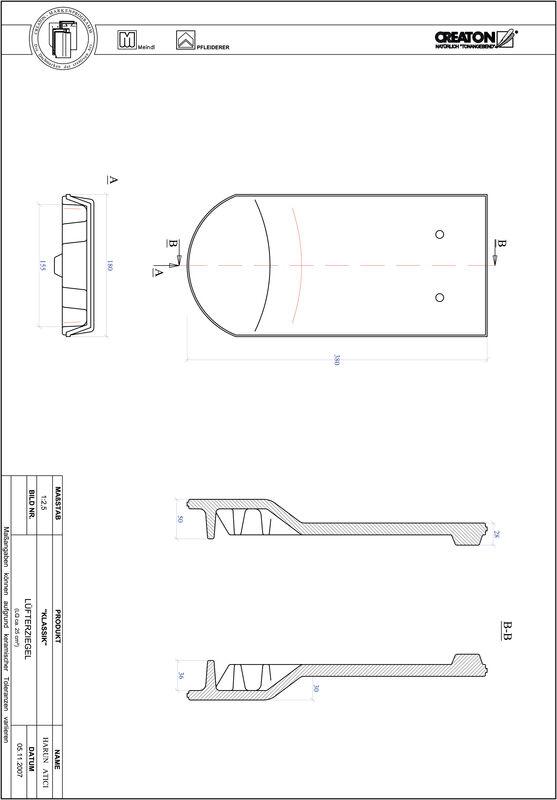 Fiser CAD produs KLASSIK decupaj rotund RUND-LUEFTZ