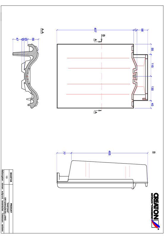 Fiser CAD produs SINFONIE laterală stânga OGL