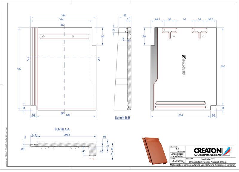Fiser CAD produs KAPSTADT laterală dreapta OGR-90
