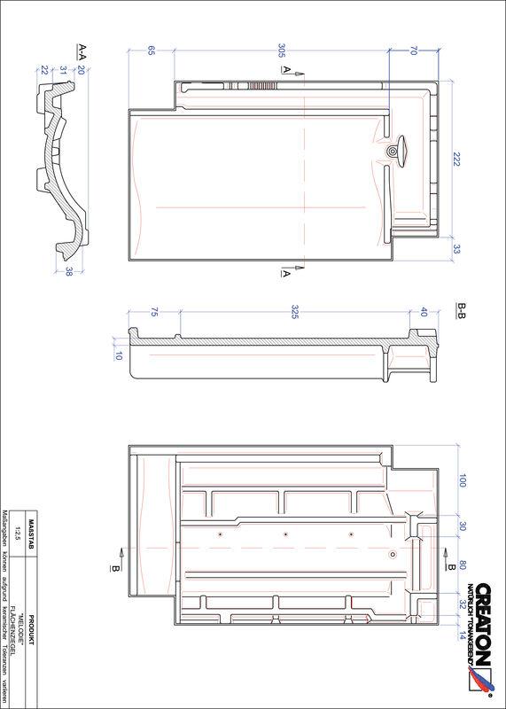 Fiser CAD produs MELODIE Ţiglă de bază FLA
