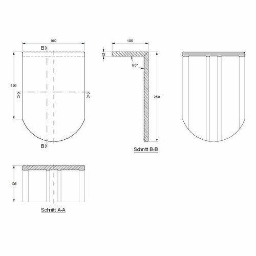 Desen tehnic produs KLASSIK PULT-kurz