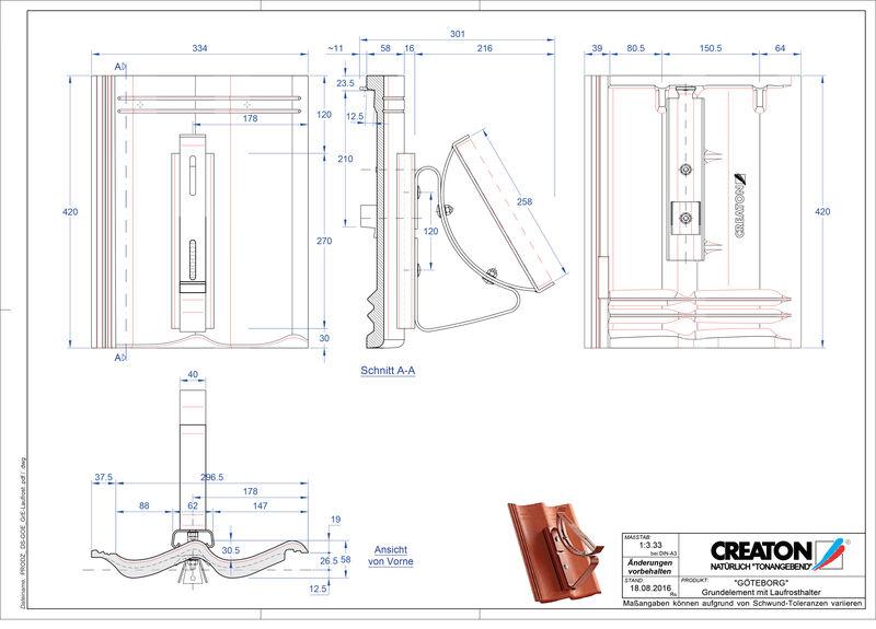 Fiser CAD produs GÖTEBORG Element Laufrost