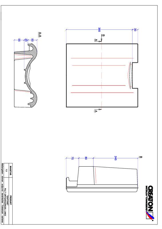 Fiser CAD produs SINFONIE Ţiglă laterală stânga cu versant standard PULTOGL