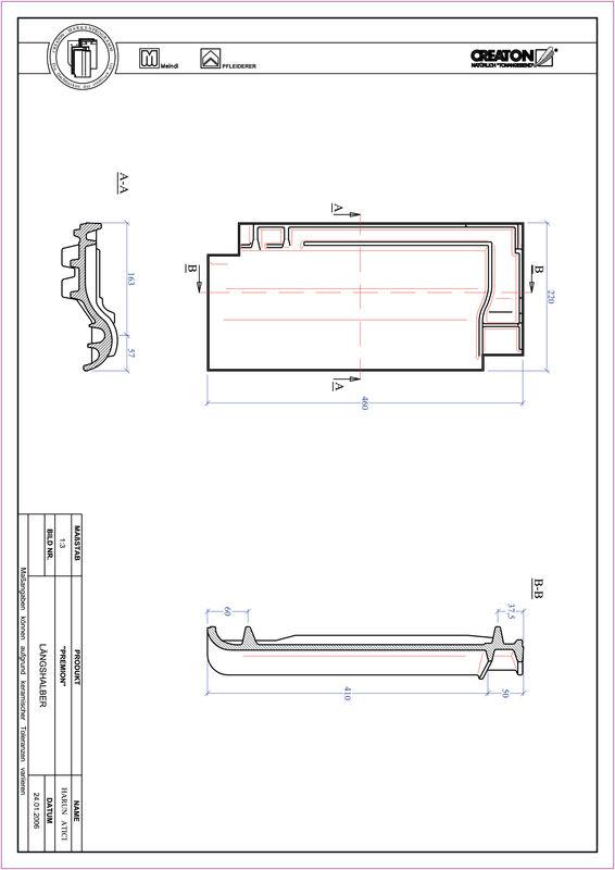 Fiser CAD produs PREMION Ţiglă 1/2  LH