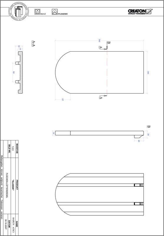 Fiser CAD produs KLASSIK decupaj rotund RUND-FLUEFTZ