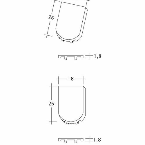 Desen tehnic produs KLASSIK FALZ