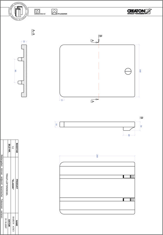 Fiser CAD produs KLASSIK decupaj rotund RUND-TRAUF-LUEFTZ