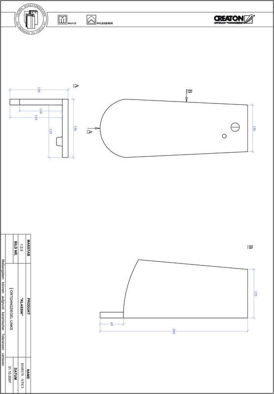 Fiser CAD produs KLASSIK decupaj rotund RUND-OGL-3-4
