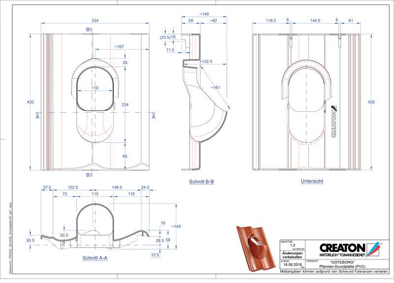 Fiser CAD produs GÖTEBORG accesorii Grundplatte-PVC