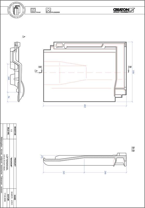 Fiser CAD produs MAGNUM Ţiglă de aerisire LUEFTZ