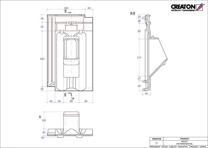 Fiser CAD produs RATIO Antenă ANTENNE
