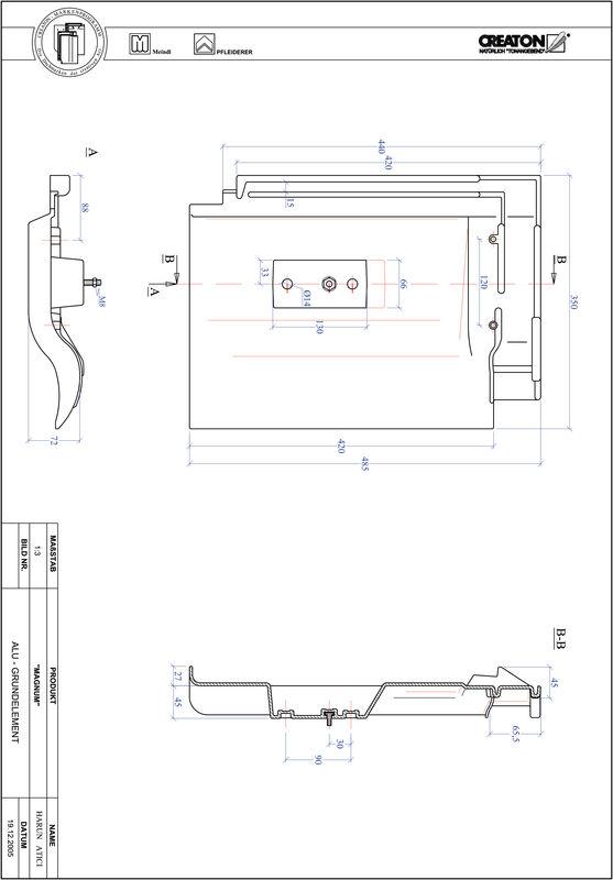 Fiser CAD produs MAGNUM Element aluminiu  GRUNDALU