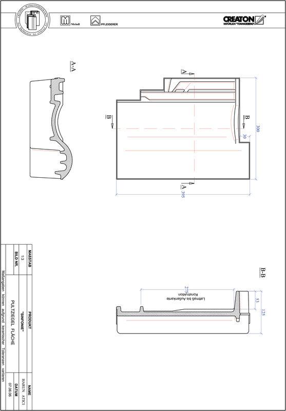 Fiser CAD produs SINFONIEŢiglă cu versant standard  PULTFLA