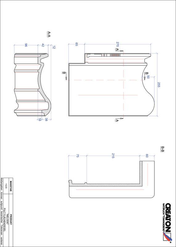 Fiser CAD produs MELODIE Ţiglă cu versant standard  PULTFLA