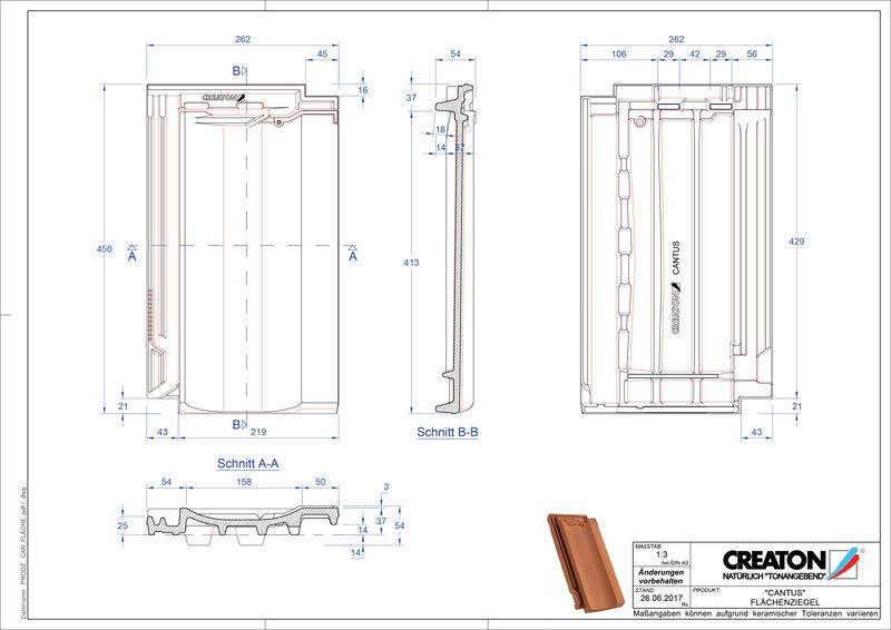 Fisier CAD produs CANTUS Tigla de bază FLA