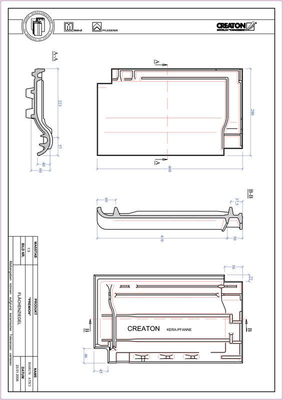 Fiser CAD produs PREMION Ţiglă de bază FLA