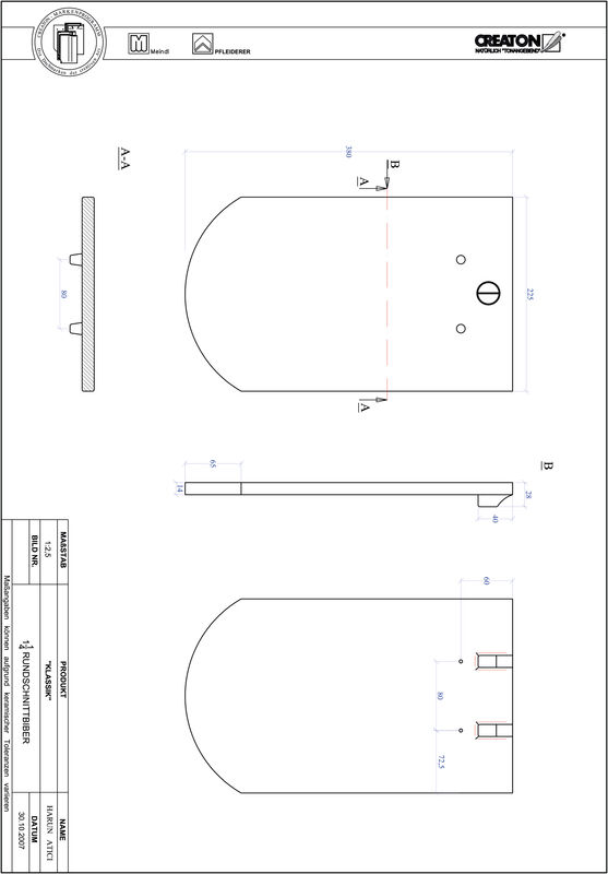 Fiser CAD produs KLASSIK decupaj rotund RUND-1-1-4
